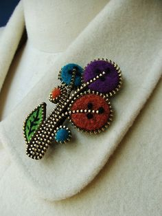 Abstract Flower Brooch