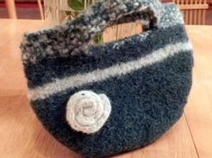 Felted clutch