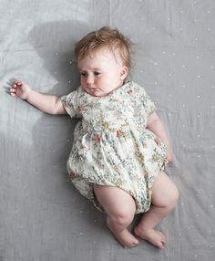 cutest floral romper of all time, the littlest blog