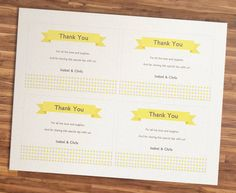 Wedding Thank You Cards Printable