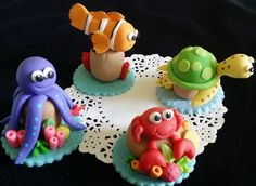 Under the sea Cake Decorations, Under the Sea Birthday, Under the Sea Baby Shower , Under the Sea Baby, Under the Sea Cake, Under The Sea Creatures
