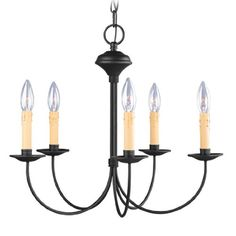 Livex Lighting 445504 Heritage 5 Light Black Chandelier >>> Be sure to check out this awesome product.