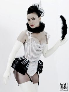 Plastic see through renaissance corset by AtelierSylphecorsets, $479.00