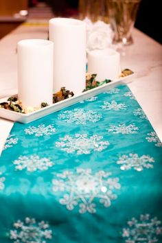 Swirling Honeysuckle/ table runner The inspiration for swirling honeysuckle has come from the Mogao caves, and the culture and art that surrounds them. Swirling honeysuckle is symbolic in portraying an unwavering, immortality and vitality. #ss15 #london #chinfea #embroidery #turquoise #lightblue #tablerunner