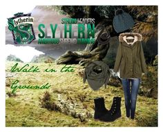 """""""Slytherin - Walk in the Grounds"""" by lumos394 ❤ liked on Polyvore"""