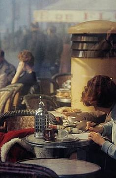 saul leiter, 1950's: reminds me of my current book club read, A Moveable Feast - Ernest Hemingway