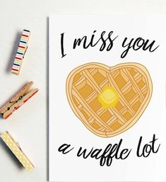 I Miss You A Waffle Lot long distance boyfriend gift boyfriend gift long distance boyfriend card Missing You Card I Miss You Card - Relationship Funny - I Miss You A Waffle Lot Greeting Card Greeting Cards Cards For Boyfriend, Diy Gifts For Boyfriend, Boyfriend Sayings, Funny Cards, Cute Cards, Distance Friendship, Friendship Puns, Cute Puns, Funny Puns