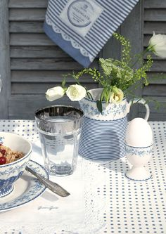Gorgeous delicate blue & white designs❣ Greengate Europe