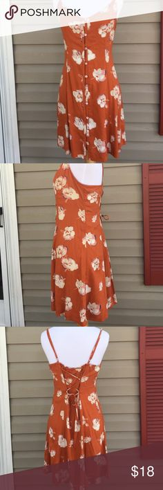 Abercrombie & Fitch women's dress Very cute dress with adjustable straps ties in back. 100% viscose no stains or holes Abercrombie & Fitch Dresses Mini