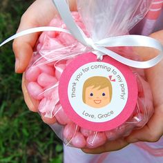Adorable custom party favor tags