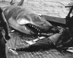 Robert Shaw relaxing on set of Jaws from ThisIsNotPorn.net - Rare and beautiful celebrity photos