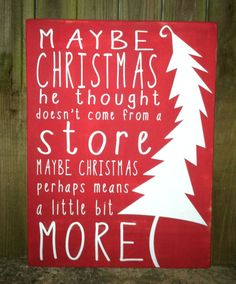Christmas Sign  Maybe Christmas means a by ExpressionsWallArt, $65.00