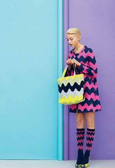 Marimekko Look Book Fashion Colours, Colorful Fashion, Fashion Shoot, Editorial Fashion, Spring Look, Looks Style, My Style, Sonia Delaunay, Mode Editorials