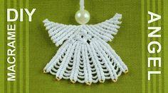 Cute #Macrame Angel - decoration for #Christmas Tree.