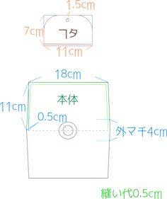 型紙 ポーチ ハンドメイド 作り方