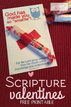 This simple and frugal scripture valentine is the perfect way to spread the love of Jesus this year! All you need is a pack of Smarties and some washi tape. Come get your Free printable today! by jacklyn