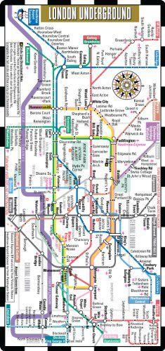Streetwise London Underground Map - The Tube - Laminated London Metro Map - Folding pocket  wallet size metro map for travel