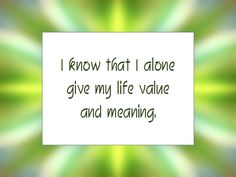 Daily Affirmation for January 11, 2014