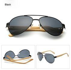 Classic Retro Men Fashion Metal PILOTs Vintage Designer Sunglasses Black tor