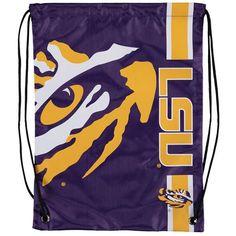 LSU Tigers Big Logo Drawstring Backpack - $8.99