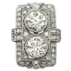 Art Deco Platinum/Diamond Ring-French