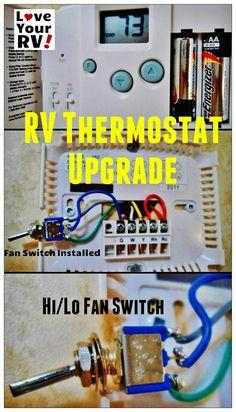 Hunter 42999B Digital RV Thermostat Upgrade | Love Your RV! blog - http://www.loveyourrv.com/