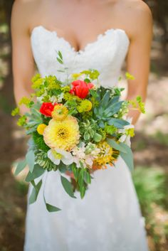 Such a happy bouquet | Whimsical Austin Texas Wedding from The Bird and The Bear + Petals, Ink.  Read more - http://www.stylemepretty.com/texas-weddings/2013/11/04/whimsical-austin-texas-wedding-from-the-bird-and-the-bear-peals-ink/