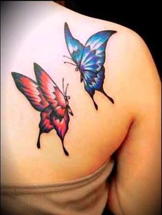 Tattoo Ideas for Butterfly Tattoo Designs #dreadstop.com for your natural hair care and leather cuffs