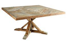 Shelby Square Dining Table on OneKingsLane.com --  A Napa,   Tuscany feel...:)