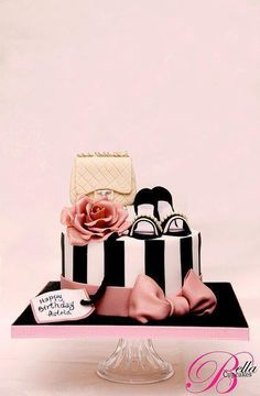 Shoe and hat box cake*