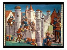 Scene from a Battle Defending Constantinople, from Ogier Le Danois, 1499 Giclee Print