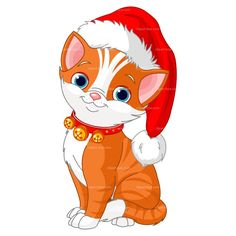 CLIPART CHRISTMAS CAT | Royalty free vector design