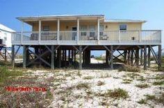 Dauphin Island 3 br Vacation Rental Home: 068 Yellow Beach House