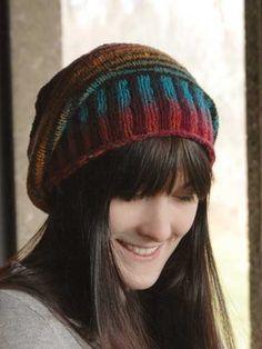 Phoncible Hat Knit Pattern slouchy knitting pattern