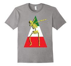 Dabbing Skeleton Mexican Flag Cinco de Mayo Shirt Gifts