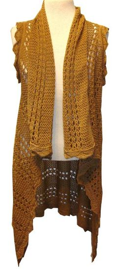 "XCVI ""Vega"" Walnut Cotton Crochet Vest. I would want it in black though"