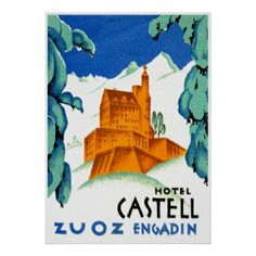 travel posters alps - Google Search
