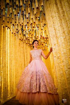 """May 2020 - Explore weddingsonlyin's board """"Bridal Cocktail Gowns Wedding Reception Gowns, Indian Wedding Gowns, Indian Gowns Dresses, Reception Dresses, Wedding Stage, Wedding Lunch, Wedding Mandap, Wedding Ceremonies, Wedding Receptions"""