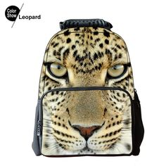 3012bfbd7a85 RoyaDong 2016 Printing Backpack Women Hologram 3D Animals Fashion Nylon  School Bags For Teenage Girls Boys