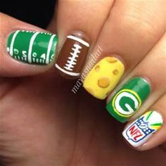 green bay packer nail designs - Yahoo Image Search Results