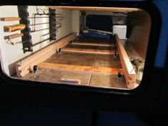 rv basement storage mod for pass through area rv mods rv guides rv tips doityourselfrv Travel Trailer Organization, Travel Trailer Camping, Trailer Storage, Camper Storage, Rv Organization, Storage Hacks, Storage Ideas, Rv Travel, Trailer Diy