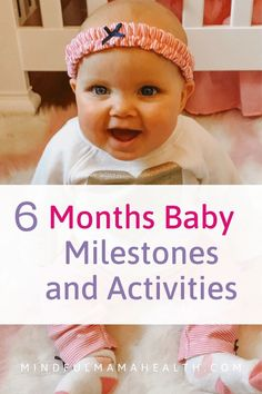 The ultimate guide to what your baby should be doing. Learn about 6 month old milestones and activities to help your baby develop on track. 6 Months Old Activities, 6 Month Baby Activities, Newborn Activities, Enrichment Activities, Toddler Activities, Learning Activities, 6 Month Old Development, Baby Development Chart, Emotional Development
