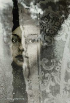 """Fotocollage """"Trough the Curtain"""""""
