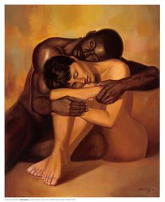 African American Couple Paintings