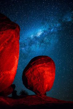 Red Rock and the Milky Way