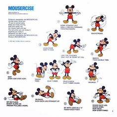 my morning workout routine. I love Mickey Mouse Physical Activities For Kids, Elementary Physical Education, Elementary Pe, Pe Activities, Gross Motor Activities, Fitness Activities, Yoga For Kids, Exercise For Kids, Kids Workout