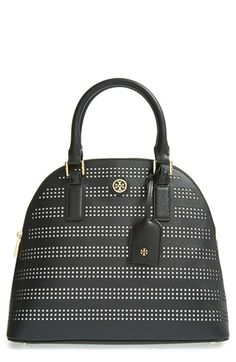 Tory Burch 'Robinson' Perforated Leather Dome Satchel available at #Nordstrom