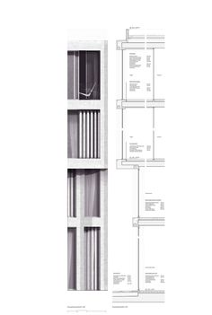 a f a s i a: Eckert Eckert Architekten-Construction Drawing Architecture Graphics, Architecture Drawings, Facade Architecture, Facade Pattern, Construction Drawings, Architectural Section, Building Facade, Facade Design, How To Plan