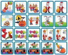 Feestdagen is een set van 20 magnetische planbord pictogrammen met de meest gevierde Nederlandse feestdagen. Deze variant is speciaal voor jongens. School, Day, Kids, Children, Boys, Children's Comics, Boy Babies, Kid, Kids Part