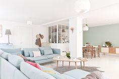 amandine et jules ont du talent Murs Pastel, White Home Decor, Interior Photography, White Houses, Scandinavian Style, Decoration, Loft, House Design, Couch